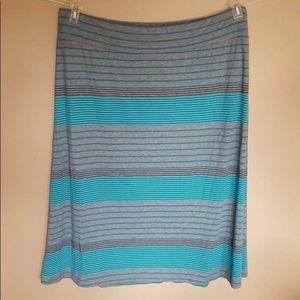 AVA & VIV grey blue striped skirt size 4X